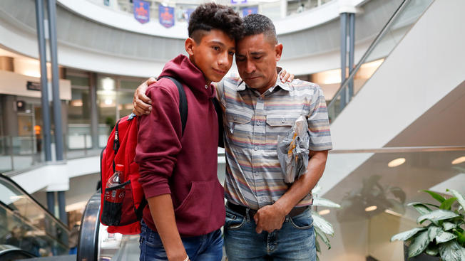 Family Immigration: Guatemalan Boy Reunites With Father After Weeks in Kansas
